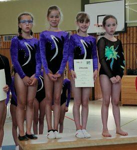 Mannschaftsmeister Jahrgang 2007 und jünger v.l. : Emma Wolf, Anna Feigel, Marie Ott, Marlene Machado